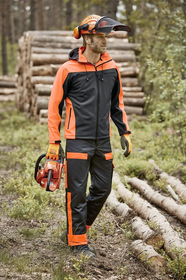 Softshell-Jacke - anthrazit-orange - Größe S